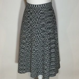 """ANN TAYLOR black/white skirt size """"L"""""""